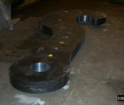 Laminated J-Hook Ladle Beam
